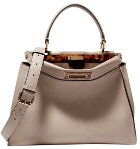 Fendi Peekaboo Peekaboo Peekaboo Medium Tote in Dove Gray