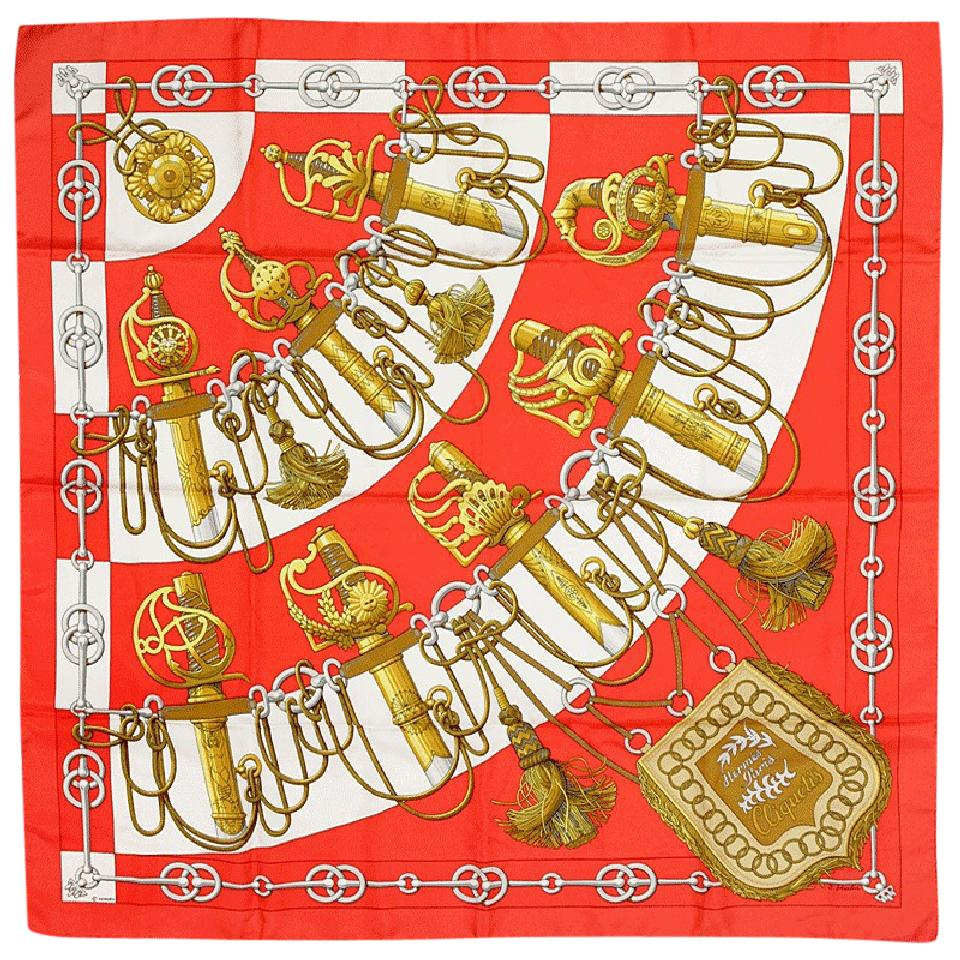 Hermès Red Paris 90cm Silk