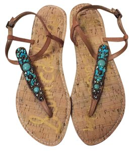 Sam Edelman Turquoise Summer Tan Sandals