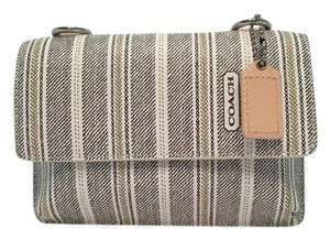 Coach COACH 64630 Legacy Weekend Ticking Stripe Phone Wallet Crossbody
