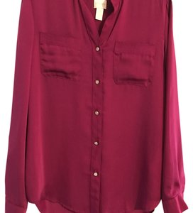 Chico's Button Down Shirt Fuschia