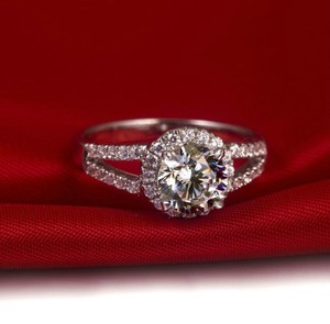 All Sizes 4.5 5 6 7 8 In Stock Diamond Ring Cushion Pt950 Bridal Engag