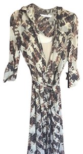 multi color brown & beige pattern Maxi Dress by Diane von Furstenberg