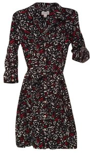 St. John short dress black, white, and red print on Tradesy