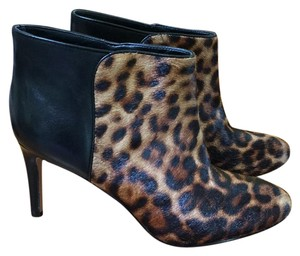 Nine West black and leopard print Boots