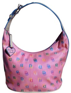Dooney & Bourke Vintage Retro Leather Signature Classic Hobo Bag