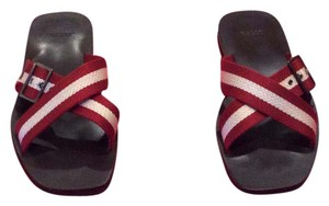 Bally Maroon/Beige Sandals