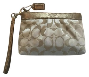 Coach Signature C Dress Wristlet in Gold