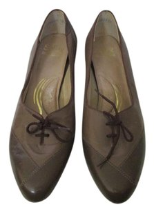 Selby Taupe Tie Pumps