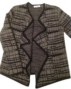 Calvin Klein Cascading Front Geometric Print Cardigan