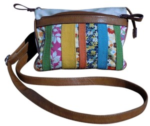 Relic Signature Faux Leather Bold Stripe Patchwork Boho Cross Body Bag