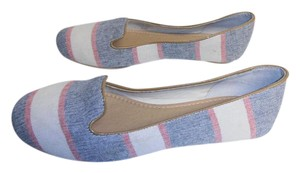 Splendid New Without Box Striped Loafer Style blue/cream/red Flats