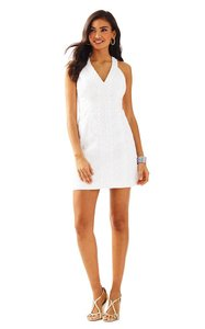 Lilly Pulitzer short dress Resort White Eyelet Shift Mini Cotton on Tradesy