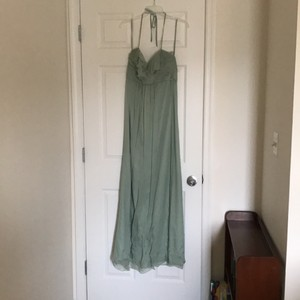 Amsale Sage Green Silk Formal Bridesmaid/Mob Dress Size 6 (S)