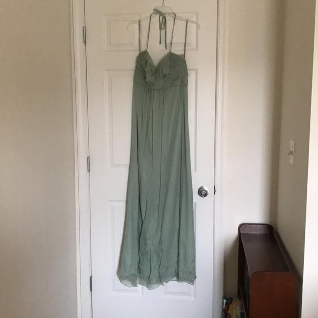 Item - Sage Green Silk Formal Bridesmaid/Mob Dress Size 6 (S)