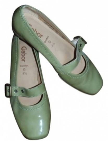 Preload https://item5.tradesy.com/images/gabor-muted-greenpatent-leather-comfort-fit-flats-size-us-65-regular-m-b-20634-0-0.jpg?width=440&height=440