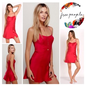 Free People short dress Cherry Red on Tradesy