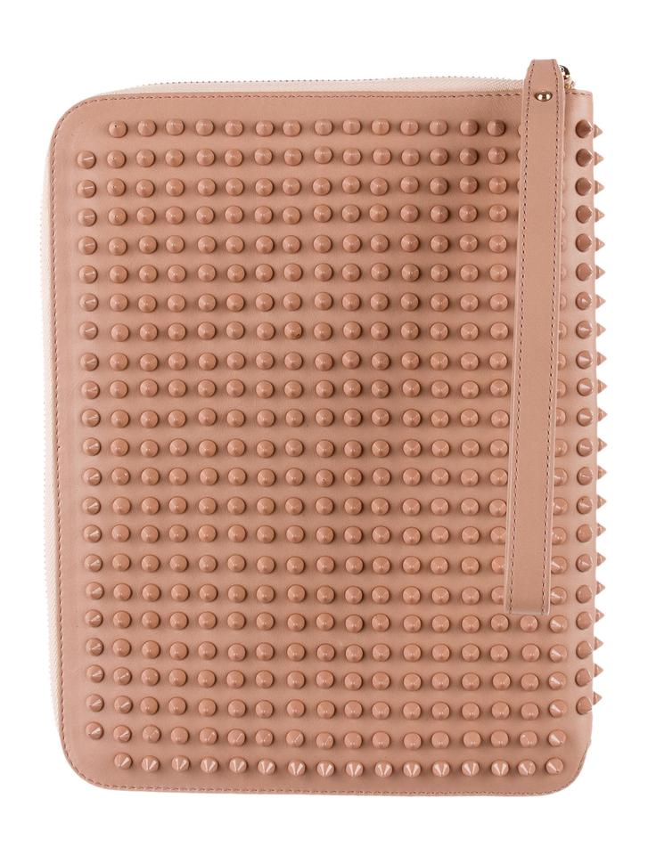 52bf00806808 Christian Louboutin Nude Leather Spiked Leather Ipad Case Tech ...