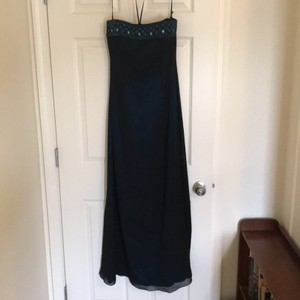 Kay Unger Navy Kay Unger Strapless Gown Dress