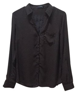 The Limited Button Down Shirt Navy with Khaki Polka Dots