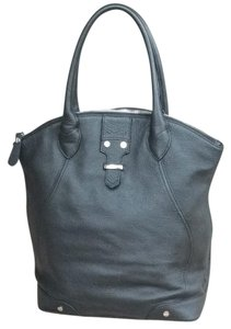 Charles Jourdan Pebbled Leather Tote in Black