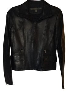 Kenneth Cole Reaction black Leather Jacket