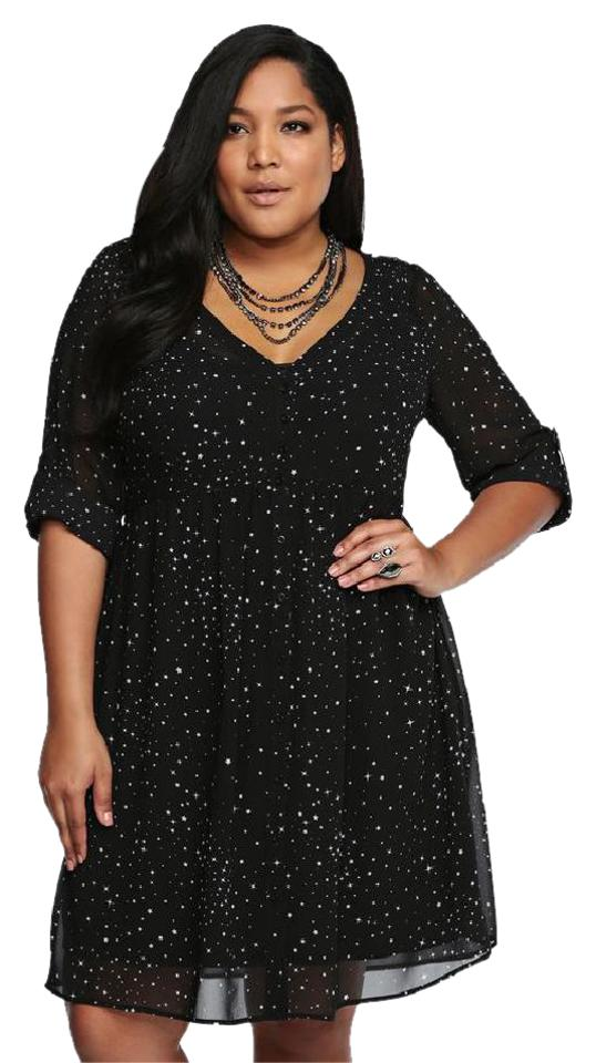 Torrid Black Dept 0054 Mid Length Workoffice Dress Size 16 Xl