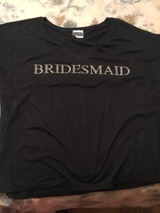 Bridesmaid Rhinestone Black T-shirt