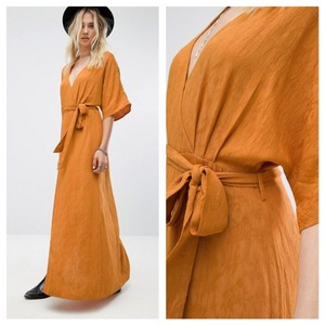 Mustard Maxi Dress by ASOS