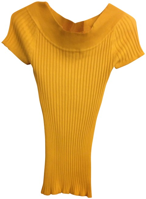 Preload https://img-static.tradesy.com/item/206344/it-s-our-time-mustard-yellow-brand-short-sleeved-sweaterpullover-size-4-s-0-0-650-650.jpg