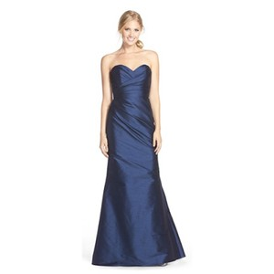 Hayley Paige Dupioni Silk A-line Strapless Full Length Dress