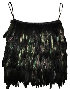 Feathers Mini Skirt black