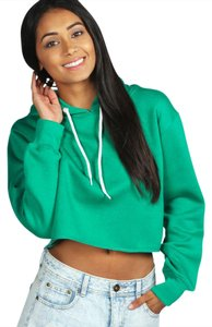 Other Cropped Pullover Long Sleeve Sweatshirt