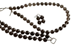 Other Smokey Quartz/sterling set--necklace, bracelet and earrings