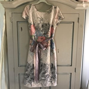 BHLDN Multi Floral Mother Or Bride Feminine Bridesmaid/Mob Dress Size 12 (L)