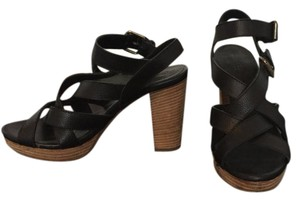 Madewell Leather Black Leather Sandals