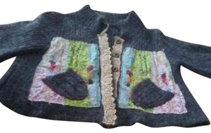 Free People Patchwork Multicolor Sweater