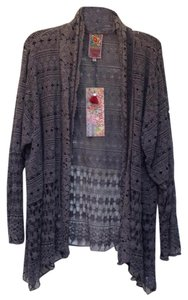 Johnny Was Crochet Longsleeve Panel Cotton gray Jacket