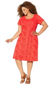 Avenue short dress Coral on Tradesy