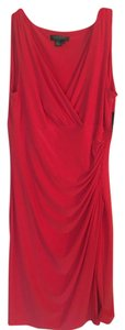 Lauren Ralph Lauren Faux Wrap Sleeveless Dress