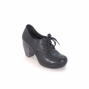Chie Mihara Leather Lace Up Fashion Black Boots