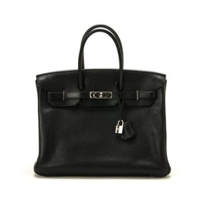 Hermès Togo Leather Palladium Birkin Tote in Black
