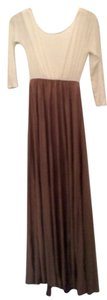 Taupe and cream Maxi Dress by Other