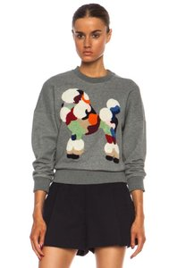 3.1 Phillip Lim Dog Embroidered Whimsical Colorful Sweatshirt