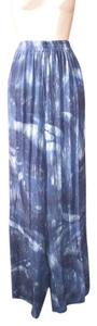 Buster and Bogi Batik Plus-size Boho Artsy Wide Leg Pants Blue