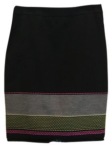 Trina Turk Skirt black w/white, yellow, pink
