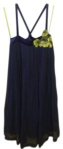 French Connection Pleated Embroidered Strappy Dress