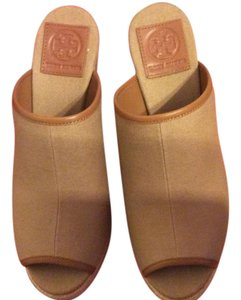 Tory Burch Khaki/royal tan Wedges