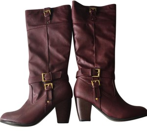 Other Knee High Burgundy Boots