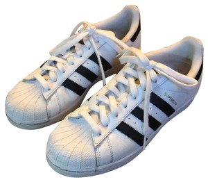 adidas white with black stripes Athletic